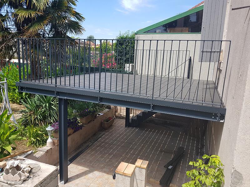 Fabrication Terrasse Sur Mesure Bois Metal Ferronnerie Au